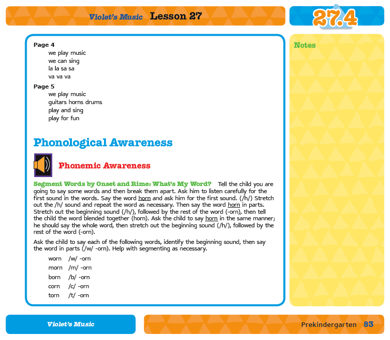 Preview of Sample Lesson 27.4 Phonemic Awareness